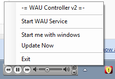 WAU Controller Screenshot